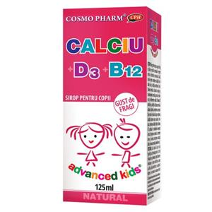 Advanced Kids Sirop Calciu + D3 + B12 Cosmo Pharm 125ml