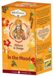 Ceai Shoti Maa Chakras In The Mood-Hibiscus si Portocale Bio 16dz