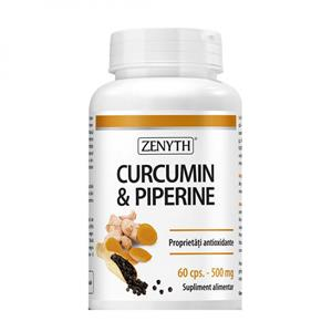 Curcumin si Piperine 500mg 60cps Zenyth
