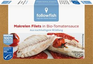 File de Macrou in Sos de Tomate Bio 125gr Followfish