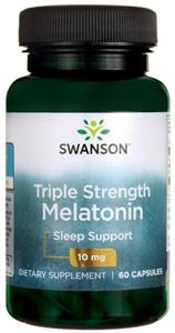 Melatonina 10mg 60cps Triple Strenght  Swanson