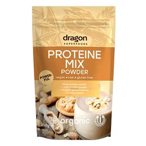 Mix Proteic Raw Bio (Canepa, Chia, Dovleac, Cacao) Dragon Superfoods 200gr
