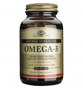 Omega 3 Dublu Concentrate Solgar 60cps