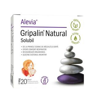 Supliment Alimentar Gripalin Natural Solubil 20 plicuri Alevia