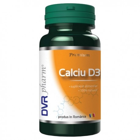 Calciu + Vitamina D3 60cps DVR Pharma