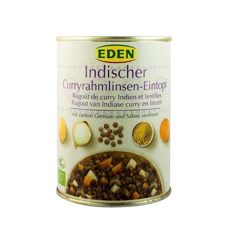 Ghiveci Bio Indian de Linte cu Smantana si Curry Eden 560gr